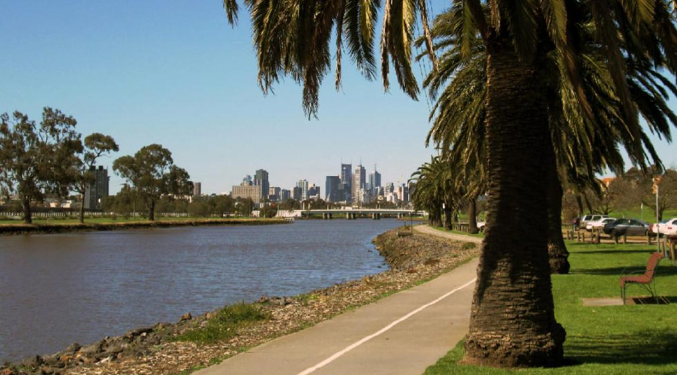 View of the Maribyrnong River in Melbourne